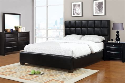 black queen size bed frame queen size claiborne black leather bed frame
