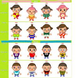 all acnl hairstyles with colours animal crossing city folk hair styles 2017 2018 best