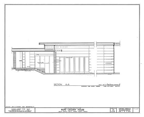 pope leighey house floor plan pope leighey house plans house and home design