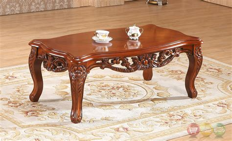 Ornate Coffee Table Verona Floral Coffee Table With Ornate Cherry Frame