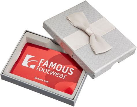 Famous Footwear Gift Card - hot 40 for 50 famous footwear gift card