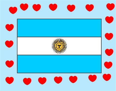 imagenes infantiles banderas argentinas dibujo de argentina pintado por lesliemoda en dibujos