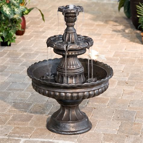 patio fountains garden classic 3 tier outdoor fountains at