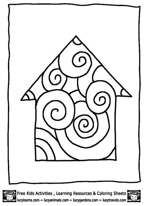 house shape coloring pages shape house coloring page coloring pages