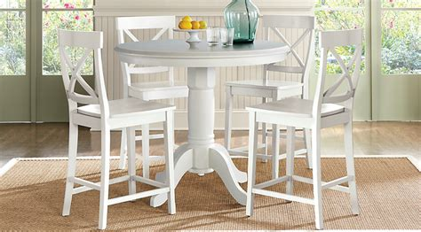 Counter Height Dining Room Set White Brynwood White 5 Pc Counter Height Dining Set Dining