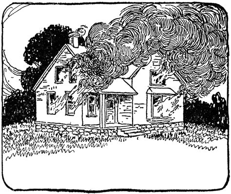 burning house coloring page two story house on fire clipart etc