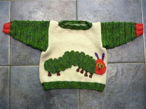 knitting pattern very hungry caterpillar roo knits the very hungry caterpillar in jumper form