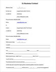 11 dj contract templates free word pdf documents