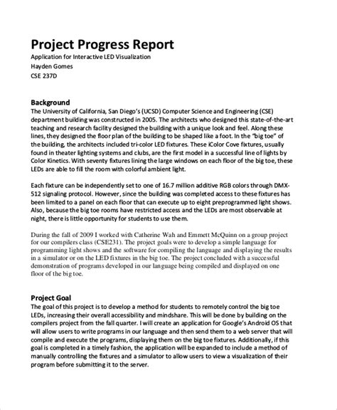 project protocol template sle project report 14 exles in pdf word