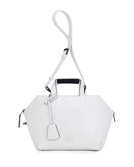 loewe origami cubo satchel bag white