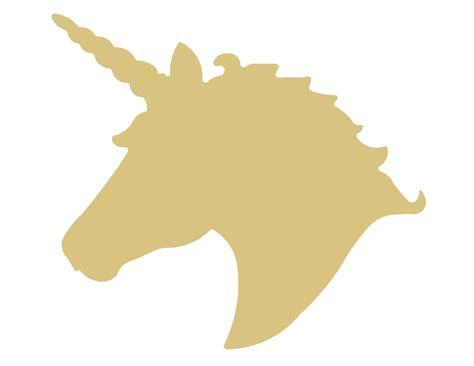Unicorn Head Unfinished Wood Shape Cutout Variety Sizes Usa