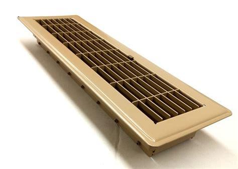 beige metal ducted heating floor vent with der