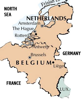 map of netherlands belgium and and belgium map