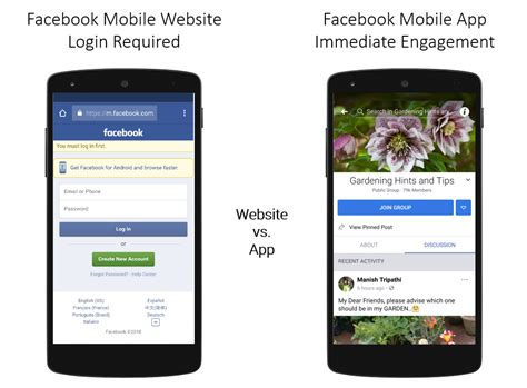 facebook mobile application deep linking to group pages in the facebook mobile app