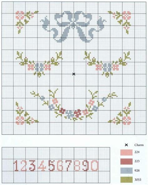 patrones de bordados para bebes esquema de punto de cruz muy delicado se podr 237 a utilizar