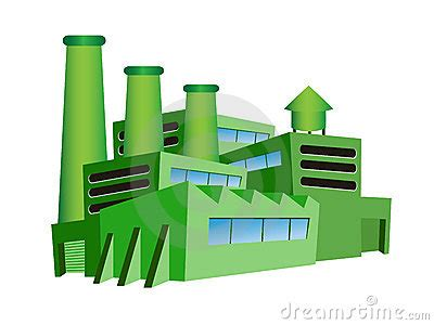design for green manufacturing green factory stock photo image 22308220