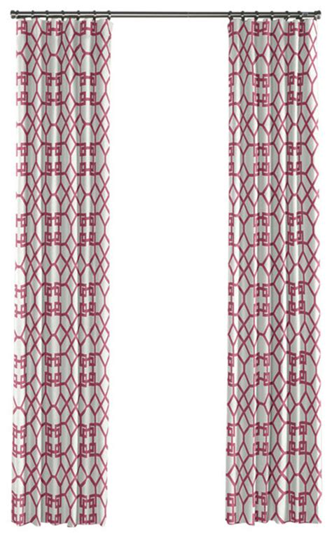 Pink Trellis Curtains Asian Style Pink Trellis Curtain Single Panel Ring Top Asian Curtains By Loom Decor