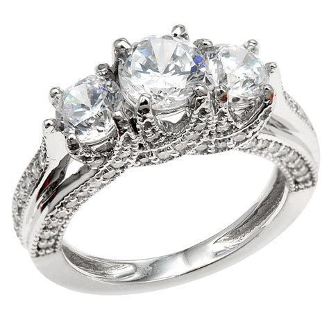 3 stone engagement rings ? 7 ? Wedding, Promise, Diamond