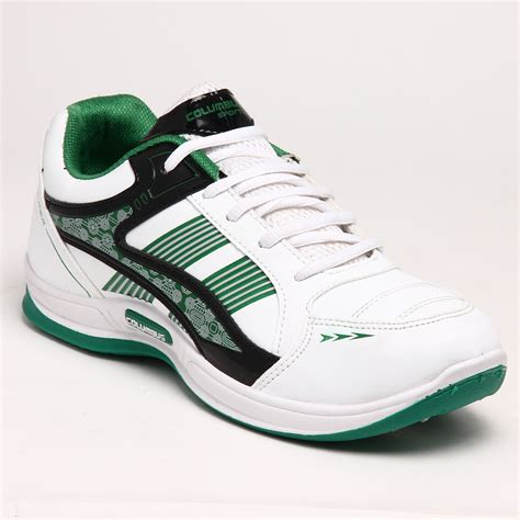columbus sports shoes buy columbus pu sports shoes white green 3534