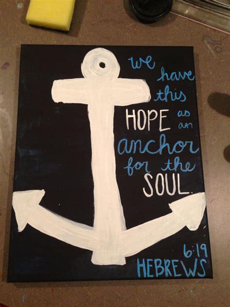 hebrews  anchor bible verse painting  lovepurplelivegold