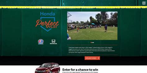 honda little league baseball world series sweepstakes - World Series Car Giveaway