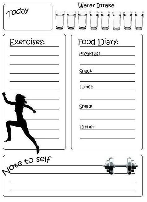 printable food fitness journal 30 best challenge group ideas images on pinterest