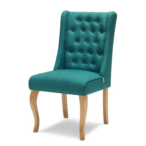 1 2pcs large wingback upholstered dining chair tufted