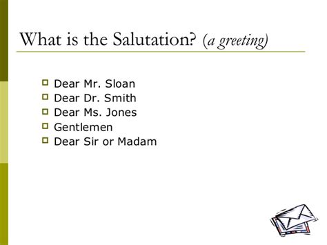 business letter salutation dear sir or madam lecture 05 writing a business letter