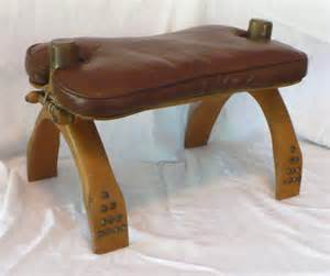 Milk Glass Pedestal Bowl Vtg Yugoslavia Camel Seat Saddle Stool Wood Leather Brass