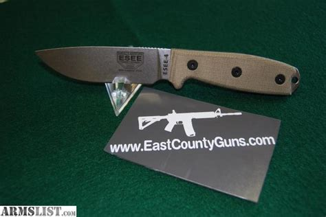 esee 4 stainless armslist for sale esee 4 w stainless and