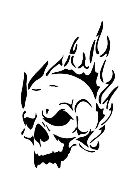 pochoir tatouage temporaire tete de mort flamme 9 unik