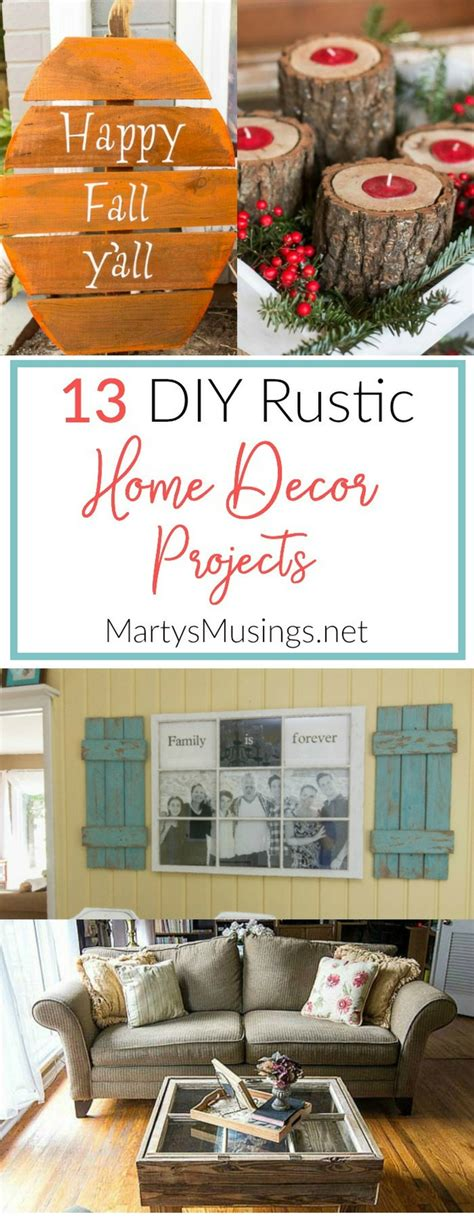 rustic home decor projects for the thrifty decorator