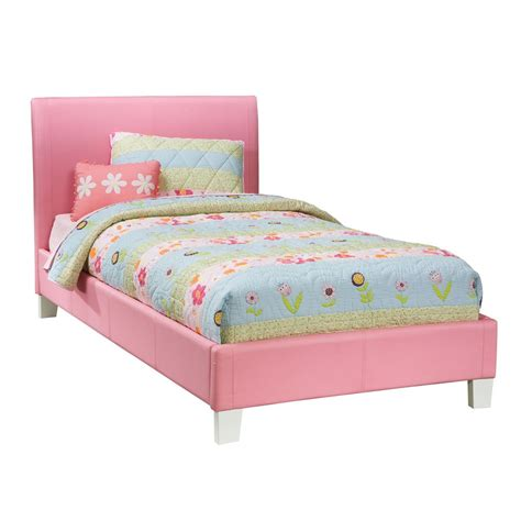 pink bed standard furniture fantasia upholstered platform bed in