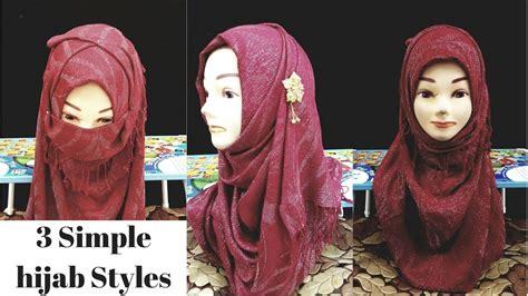 simple hijab styles  naqaab  beginners