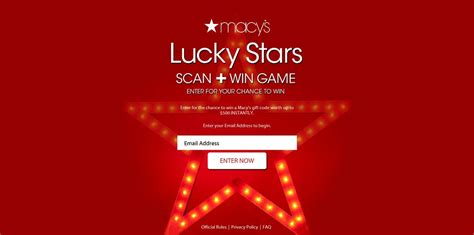 Macy S Instant Win - macy s lucky stars scan and win game macys com luckystars instantly win up to