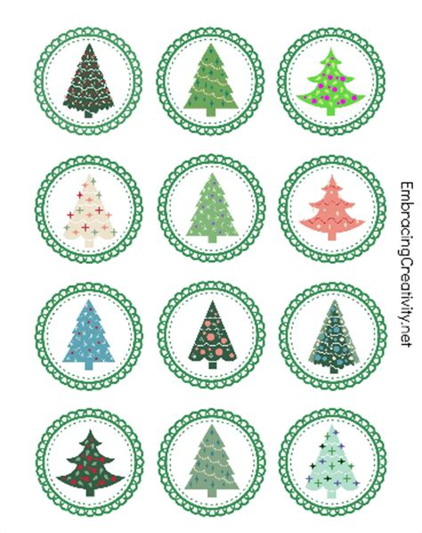 christmas tree topper printable free printable tree cupcake toppers embracing creativity