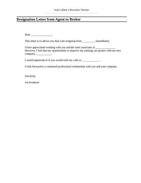 simple resignation letters sle of resignation letter edit fill sign