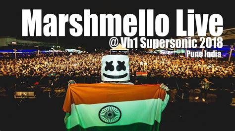 marshmello in india marshmello live at vh1 supersonic 2018 day 2 pune india