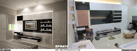 design backdrop tv our project efrata desain kontraktor interior