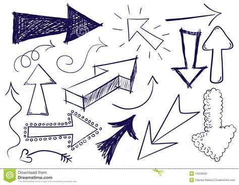 doodlebug graphics doodle arrows stock illustration image of pencil blue
