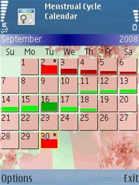 Menstrual Cycle Calendar Aplicativos Symbian Java Menstrual Cycle Calendar V 3