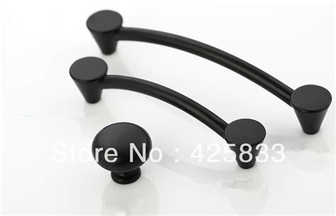 10pcs 96mm Matte Black Pulls Classical Knobs Drawer Black Kitchen Cabinet Handles