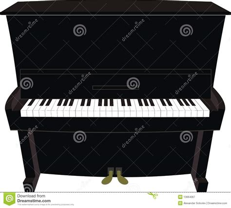 Small Cute House Plans cartoon black piano royalty free stock photography image