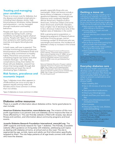 Diabetes Brochure Template Free Download Diabetes Brochure Templates Free