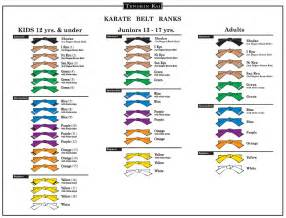 karate belt color order image gallery karate belts in order