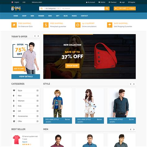 html5 sle template b sale responsive ecommerce html5 template