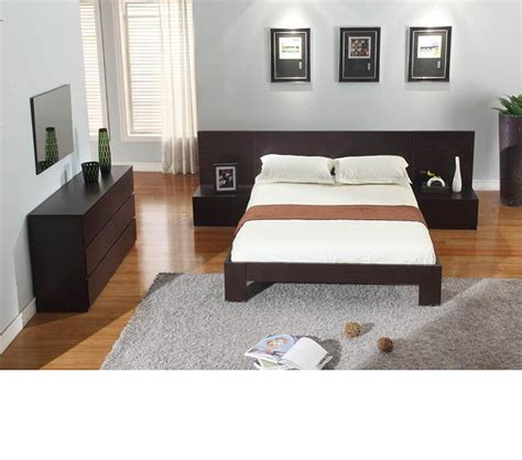 Wenge Furniture Bedroom Dreamfurniture Lyon Wenge Platform Bedroom Set