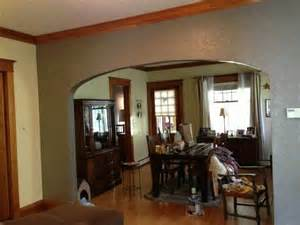 grey walls with wood trim yay living dining room makeover grey grey walls
