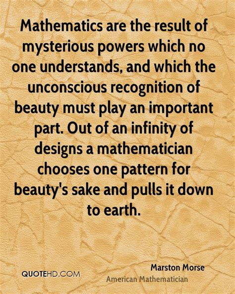 math pattern quotes marston morse beauty quotes quotehd