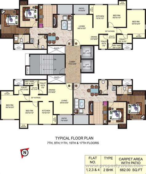 typical floor plan puraniks capitol ghodbunder road thane apartment